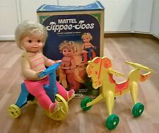 Vintage Mattel 1967 Tippee Toes doll tricycle horse not working box included