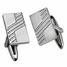 With Diagonal Linear Design Neo-Classic Stainless Steel Cufflinks