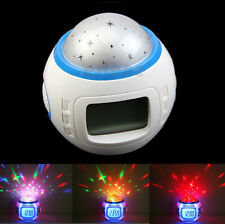 Music Starry Star Sky Projection Projector Alarm Clock Calendar Thermometer