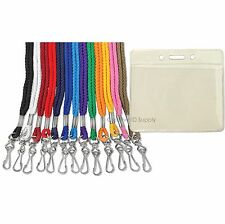 LOT 200 NECK STRAPS LANYARD WITH 200 ID BADGE HOLDERS