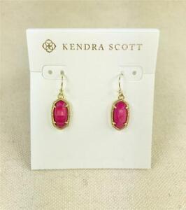 Kendra Scott Lee Red Pearl Gold tone Earrings