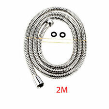 2M CHROME HIGH FLOW SHOWER HOSE / FLEXIBLE BATHROOM PIPE Stainless / 6.6 FEET
