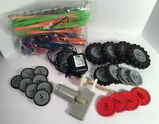 K'Nex KNEX Big Ball Factory Motor Gear AC Adapter Plus Gears Wheels Coaster Set