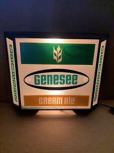 Vintage Genesee Cream Ale Lighted Beer Sign (Works)