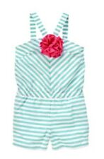Gymboree Mermaid Party Striped Corsage Romper Sz 4