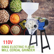 110V Electric Feed Mill Wet Dry Grinder Cereals Rice Flour Grain Oats Corn Wheat