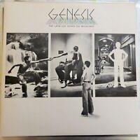 GENESIS 2XLP THE LAMB LIES DOWN ON BROADWAY GERMANY REISSUE VG++/EX OIS + INSERT