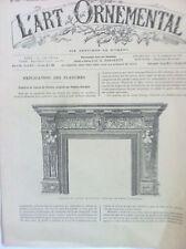 L'art Ornemental revue décoration du 20 Juin 1885 n°125 Troisiéme année