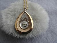 Baroness 17 Jewels Wind Up Vintage Necklace Pendant Watch