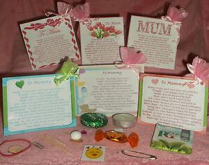 Gift For Mum Mothers Day Keepsake Survival Kit Novelty Personalised/Birthday