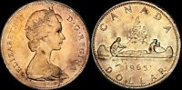 1965 CANADA ELIZABETH II SILVER DOLLAR HIGH QUALITY COLOR TONED COIN