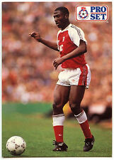 Kevin Campbell Arsenal #236 Pro Set Football 1991-2 Trade Card (C364)