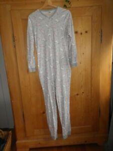 Süßer Einteiler Schlafoverall Schlafanzug Gr.176 Grau mit Einhorn