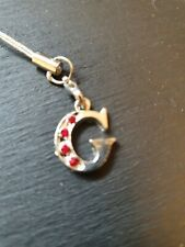 Letter 'G'  Zip Pull , Mobile Phone Charm or Keyring  (2A2)