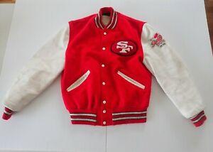 1985 VINTAGE SAN FRANCISCO 49ERS JACKET W PATCH: SUPER BOWL XVI, XIX