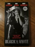 Black & White VHS 1999 Action Mystery Thriller Gina Gershon Ron Silver Free Ship