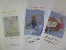 Knitting Patterns for 1:12 scale 2.75 inch dollhouse toddler doll - SET 2
