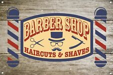 Barber Shop Letrero metal Decor Decoración De Pared Placas 1060
