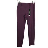 Express Women Pants Size 0R Purple Skinny Ankle Extreme Stretch Pockets NEW!!!