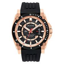 Bulova Precisionist Colección Para Hombre de Cuarzo Reloj de fibra de carbono esfera 44 mm 98B152