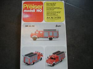 Preiser 31302  Feuerwehr MAN Ziegler RW ÖL Bausatz