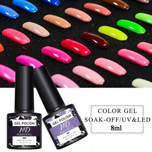 MAD DOLL 8ml Nail 76 Solid Color Gel Polish Soak Off UV LED Nail Art Gel Varnish