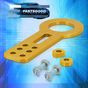 Universal Front Tow Hook Anodized Gold Set Kit Towing Trailer Chassis Hitch New