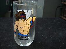 "Vintage 1990 Titan Sports WWF ULTIMATE WARRIOR 5-1/4"" Glass 12oz."