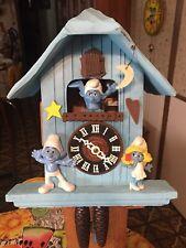 Vintage Rare  Blue Smurf House  Cuckoo Clock