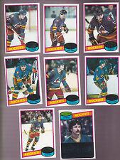 1980 / 81 Topps Team SET lot of 8 Colorado ROCKIES NM+ McDonald ROBERT
