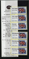 FLAGS! - Post and Go PENZANCE - COLLECTORS STRIP  OF 6 - SCARCE OFFICE