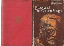 The GOLDEN BOUGH by James FRAZER 1947 FRAZER by Downie MAGIC & RELIGION 2 BOOKS