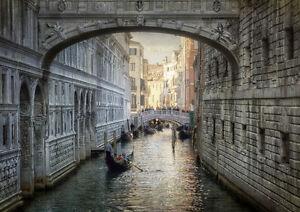BRIDGE OF SIGHS VENICE ITALY NEW A4 POSTER GLOSS PRINT LAMINATED