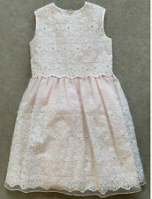 LESY by LISETTA COSI pink Party Dress with white embroidery & pearls - 7Y