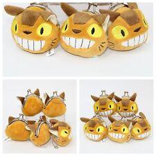 "2"" Studio Ghibli My Neighbor Totoro Cat Bus Plush Toy Coin Bag Gift"