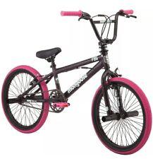 "New Mongoose 20"" FSG BMX Girls Bike Black Pink - Simple single-speed riding"