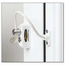 Jackloc Cable Window Restrictor 200mm for UPVC Child Safety with Key Lock White