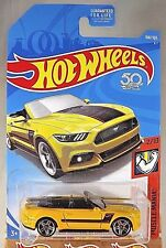 2018 Hot Wheels #168 Muscle Mania 2/10 2015 FORD MUSTANG GT CONVERTIBLE Yellow