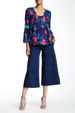 Plenty by Tracy Reese Women's Blue Tailored Cotton pants, 424 COSMOS,NWT 12