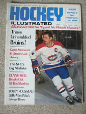 1969 HOCKEY ILLUSTRATED  MONTREAL CANADIENS JEAN BELIVEAU BOSTON BRUINS ESPOSITO