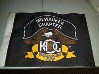 Harley Davidson bike flag HOG Milwaukee Chapter