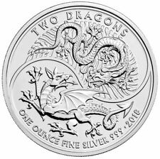 2018 Two Dragons 1oz .999 Silver Bullion Coin - The Royal Mint