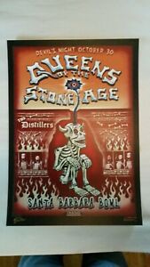 EMEK Queens Of The Stone Age Santa Barbara DEVIL'S NIGHT Poster 10/30/2003