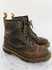Dr. Doc Martens Air Wair US 6 Brown Leather 8-Eye Lace Up Boots 1460 England