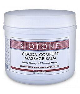 Biotone Cocoa Comfort Massage & Spa Therapy Balm - 32 Ounce Tub