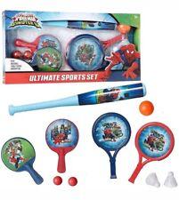 Marvel Spider-Man Ultimate Kids Mega Sport Kit 3 in 1 Set Fun Active Games Gift