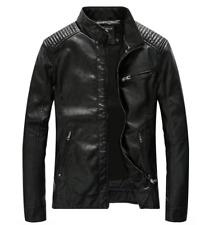 Fashion Men Coats Leather Motorcycle Slim Fit Youth Zipper Biker Jackets Outwear