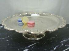 Vintage E.P.C.A.Poole Lancaster Rose Silver Plate Cake Stand