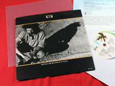 """U2  WITH OR WITHOUT YOU  -  7"""" Single Island EU 1987 sehr gut + Promo Sheet"""