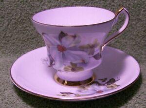 "Beautiful Bone China CUP & SAUCER, Dogwood, ""Windsor"", England"